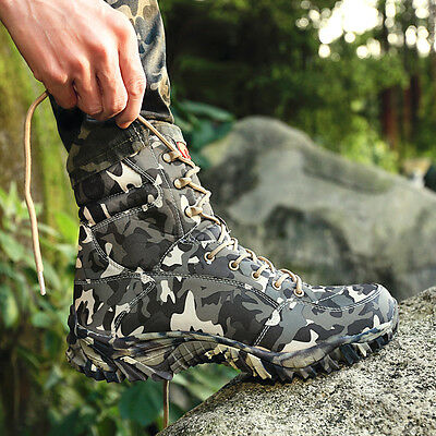 Outdoor Climbing Hiking Military Tactical Combat Boots Fashion Camo Shoes