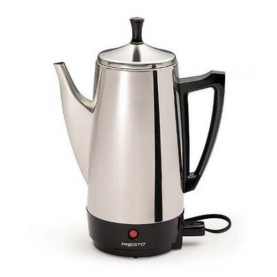 Percolator Coffee Maker 12 Cup Stainless Steel Automatic Electric Vintage Perk