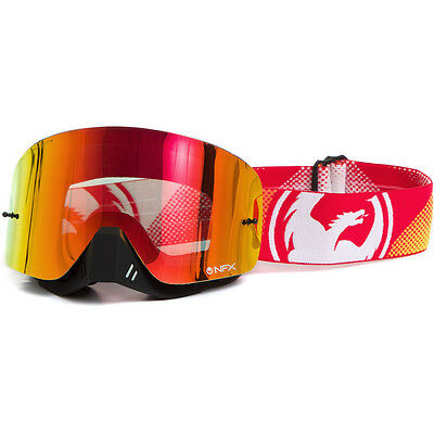 Dragon Mx NEW NFX Fade Orange Red Ionized Dirt Bike Tinted Motocross Goggles