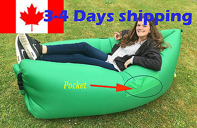 Inflatable sofa air bag bed chair lazy sleeping lay fast portable outdoor beach