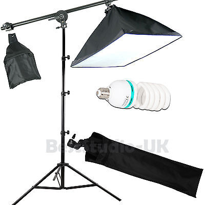 135W Photog Studio Softbox Soft Box Continuous Lighting Boom Arm Light Stand Kit