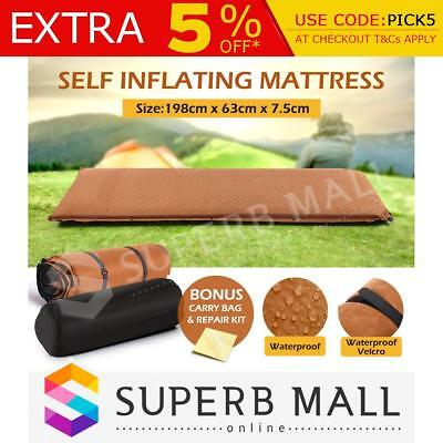 Foldable Air Bed Self Inflating Mattress Joinable Inflatable Camping Hiking Mat