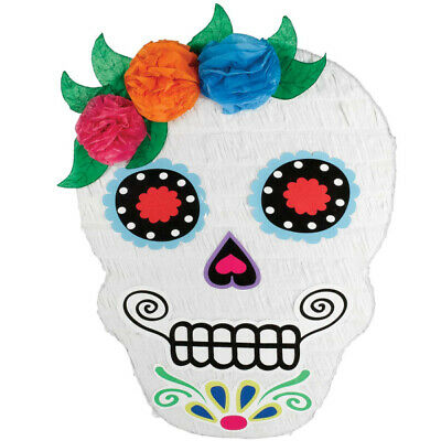 Day of The Dead Sugar Skull Shaped Party Piñata
