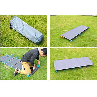 Portable Outdoor Folding Easy Carry Ultralight Hiking Camping Fexible Bed New