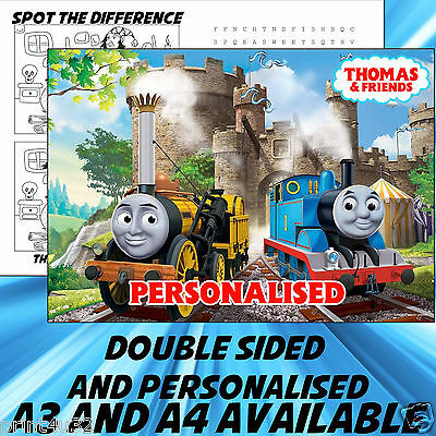 Childrens Thomas Dinner Mat A4 / A3 sizes available Place Mat