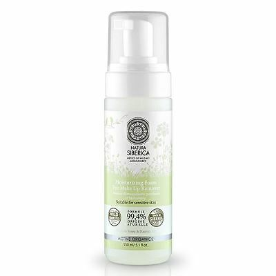 Natura Siberica Moisturizing Foam, Eye Make-Up Remover 150ml