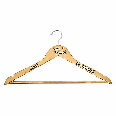 Wedding Bridal Party Vinyl coat hanger decal sticker NAME/DATE/ROLE DIY custom