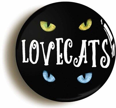 LOVECATS BADGE BUTTON PIN (Size is 1inch/25mm diameter)