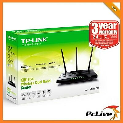 TP-Link Archer C59 Dual Band 1350Mbps Wireless AC Router AC1350 5GHz WPS USB