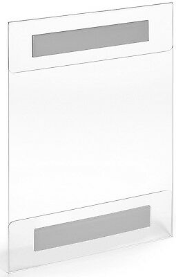 8.5 X 11 Wall Mount Clear Acrylic Sign Holders 3M Adhesive No Drilling (3 PACK)