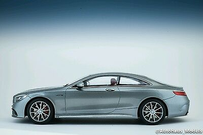 GT Spirit 2015 Mercedes Benz S63 AMG Coupe Silver 1/18 LE of 1000 New In Stock!
