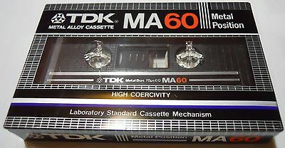 TDK MA 60 METAL POSITION HIGH COERCIVITY made in Japan
