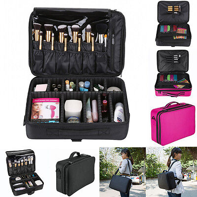 "13""/16"" Make-Up Bag Cosmetic Brush Case Storage Toiletry Organizer Artist Travel"
