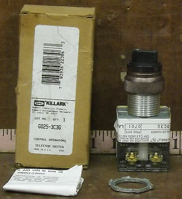 1 New Hubbell Killark G025-3C3G Explosion Proof Selector Switch ***make Offer***