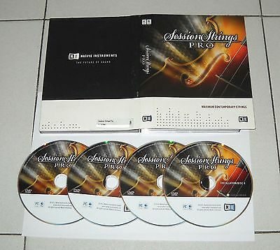 4 Dvd Rom Native Instruments SESSION STRINGS PRO Maximum Contemporary Pc Mac