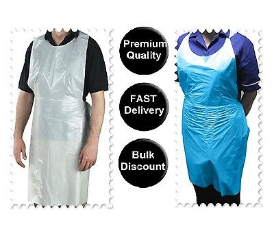 Polythene Disposable Apron in Clear, Blue colours Plastic Eco Roll Flat Pack