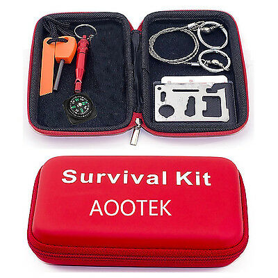 Aootek Survive Tool Pack Outdoor Sport Camping Hiking Survival Emergency Tools