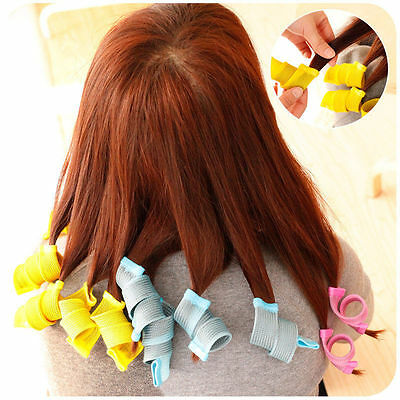 18pcs Hair Rollers DIY Curlers Large Magic Circle Twist Spiral Styling Tools