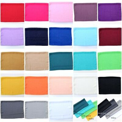 Women Plain Chiffon Scarf Silk Like Soft Neck Shawl By Kongle, 23 colour options