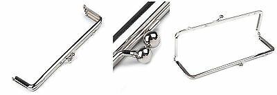 Platinum Plated Metal Handbag Purse Frame 7x18 cm Clasp DIY Bagmaking