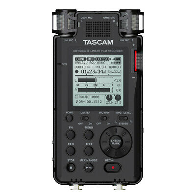 Tascam DR-100 MKIII MK3 2-Ch Portable Linear PCM Handheld Stereo Audio Recorder