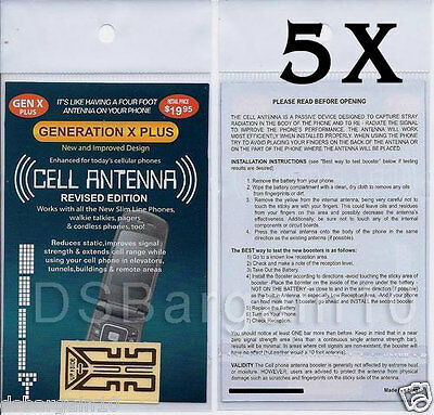 5x Mobile Antenna Signal Booster Generation X Plus Sticker New Latest Edition