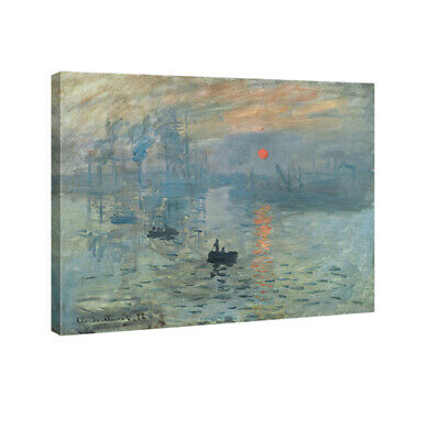 Canvas Print Monet Painting Repro Home Decor Wall Art Abstract Landscape Framed