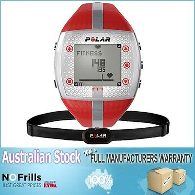 Polar FT7 Heart Rate Monitor Watch (Red) with AUST POLAR WARRANTY