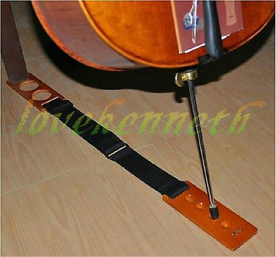 1PC Wooden Cello End Pin Holder Stopper Stand Slide-proof Adjustable Rug Pad