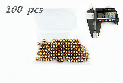 "MS 100Pcs 1/8""  Precision Solid brass Bearing Balls"
