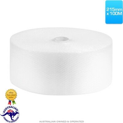 215mm x 100M Meters Bubble Cushioning Wrap Roll Clear 10mm Bubbles