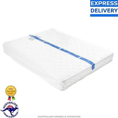 Queen Size Bed Plastic Mattress Protector Cover Moving Storage Bag Express Post