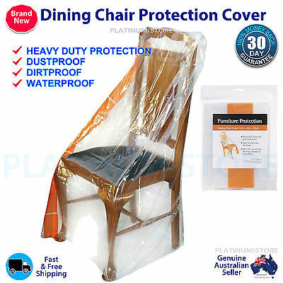 2 x Seat Office Chair Kids Furniture Protection Cover Plastic Storage Bag