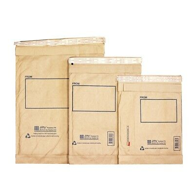 10 Pack P6 Jiffy Padded Mailer Envelopes Recycled Brown Bubble Mailing 300x405mm