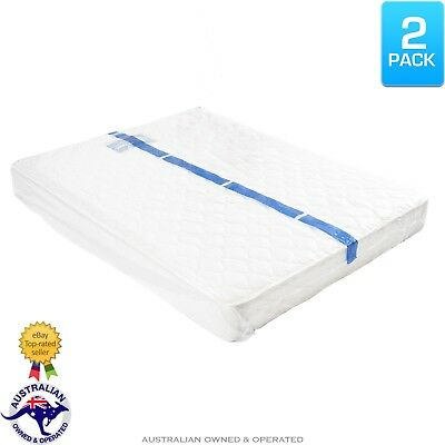 2 Queen / Double Bed Plastic Mattress Protector Moving Storage Bag Dust Cover
