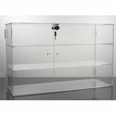New Acrylic Display Showcase w/ Locking Doors and 3 Shelves Prevent Shoplifting