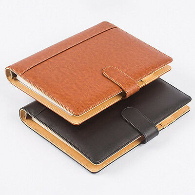 A5 Loose Leaf Notebook Diary Business Planner Leather Ruled Note Book Memo Pad