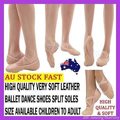Ballet Dance Shoes Split Sole High Quality Very Soft Leather Size Child To Adult