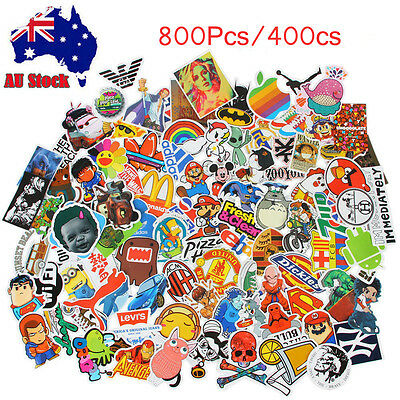 800/400pcs Skateboard Vinyl Sticker Skate Graffiti Laptop Luggage Car Bomb Decal