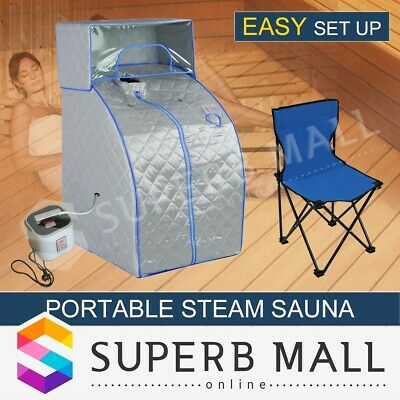 Indoor Loss Weight Slimming Skin Spa Portable Steam Sauna Tent w/ Head Cover