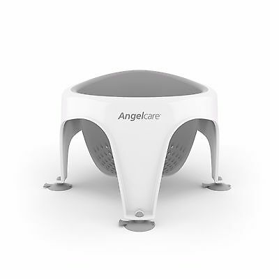 Angelcare Soft-Touch Bath Seat Grey | Baby Support | Anti Slip | Mould Resistant