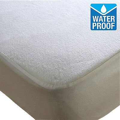 TerryTowel Waterproof Fitted Mattress Protector & Pillow Covers all sizes