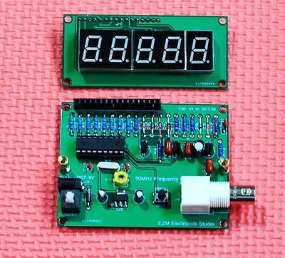 New 7-9V High Precision 1MHZ to 50MHz Frequncy Counter BNC Red LED Display