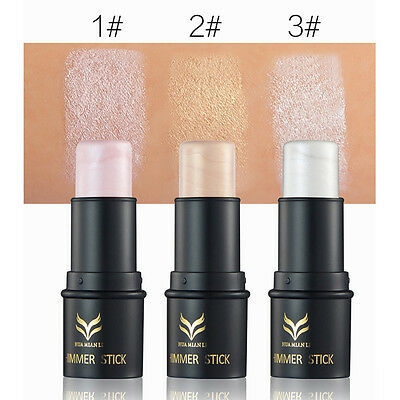 New 3Colors Highlighter Stick Shimmer Powder Cream Waterproof Beauty