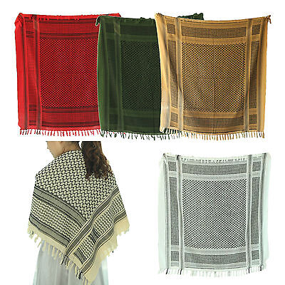 Shemagh Scarf Military Tactical Desert 100% Cotton Scarf Keffiyeh Head Wrap AS