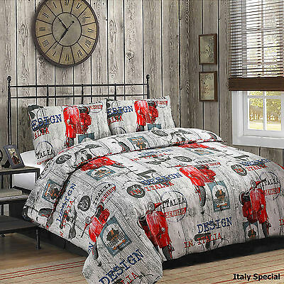 ITALY SPECIAL Duvet Set inc Duvet Cover Pillow cases.3 X SIZES AVAILABLE