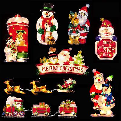 Premier Light Up INDOOR Mains Christmas Window Silhouette - 8 Designs