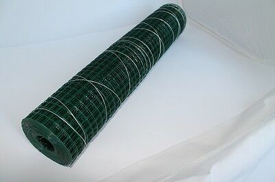 Square Wire mesh Wire Grid Roll Length 5m green 12,7mmx1m