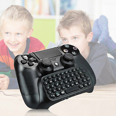 3.5mm Plug Black Mini Wireless Chatpad Message Keyboard for PS4 Controller NR