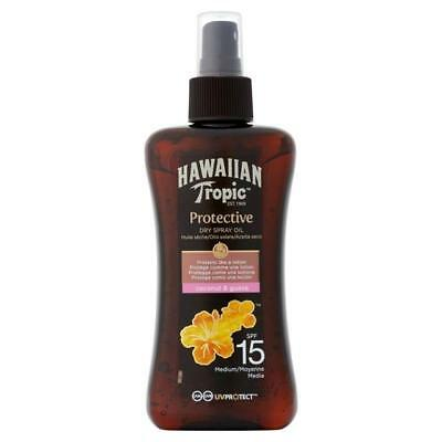 Hawaiian Tropic Protective Oil Pump Spray SPF 15 Coconut & Guava (200ml)